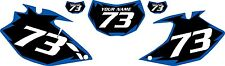 2007-2011 Yamaha WR450F Pre-Printed Black Backgrounds with Blue Shock Series
