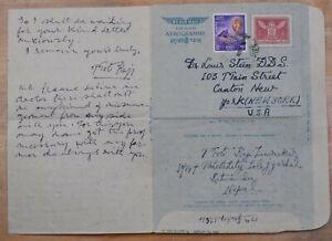 MayfairStamps Nepal 1960s Katmandu to Canton New York Used Stationery Aerogramme