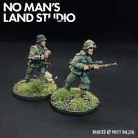Pro Painted WW2 German Snipers - 28mm 1/56 Splinter Camo - Bolt Action