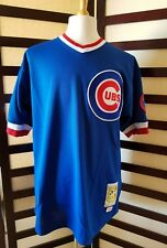 Men's XL Chicago Cubs 1984 Ryne Sandberg Mitchell & Ness Throwback Royal Auth.
