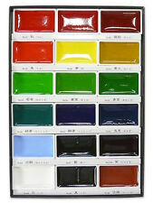 Kuretake Japan Gansai Tambi Watercolor Jananese Art Paint 18 Colors Set MC20/18V