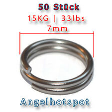 50 Stück Sprengringe | Ø 7mm | 15KG Tragkraft | Splitringe | Angelhotspot X3