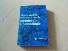 livre INTRODUCTION A L'ETHNOLOGIE - Abram Kardiner & Edward Preble