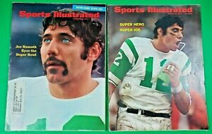 Joe Namath On 2 Sports Illustrated Covers - Before & After 1969 Super Bowl III