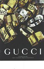 PUBLICITE ADVERTISING  2006  GUCCI joaillerie bijoux collection 140712