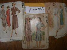 VINTAGE SEWING PATTERN 40's-Women MCCALLS   3 patterns  medium  large(#5)