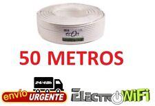 Cable Coaxial para Antena tv bobina 50m metros TDT SAT 6.8 MM