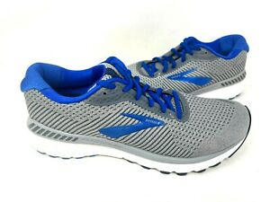 Brooks Men's Adrenaline GTS 20 Lace Up Running Shoes Gray/Blue #1103071 79O z