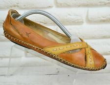 PIKOLINOS Womens Brown Leather Comfort Casual Shoes Ballerinas Size 3 UK 36 EU