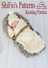 BABY COCOON PAPOOSE KNITTING PATTERN REBORN PATTERN  #128 NOT CLOTHES