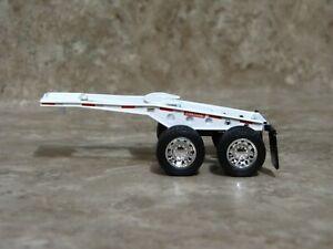 1/64 DCP White Fontaine Lowboy Jeep Trailer Farm Toy