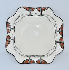 Vintage Crown Ducal ORANGE TREE Square Scalloped Bowl (D:16cm)