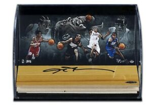 Allen Iverson Autographed Floor Piece Acrylic Display 76ers Upper Deck UDA
