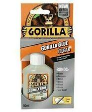 Gorilla CRYSTAL CLEAR Glue Super Tough Glass Stone Wood Metal Foam Adhesive 50ml