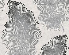 Bohemian Burlesque Black and Silver Feather Wallpaper 96045-6