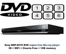 Sony BDP-S570 3D Multi Regione DVD FREE 1-6 WIFI 1GB SACD Lettore Blu-Ray S370 MKV