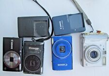 Lot of 4 Canon PowerShot Cameras A520 ELPH300 1501s NONFUNCTIONAL NOT WORKING