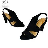 Carvela Comfort Women's Shoes Trinity Dress Court High Heels Black Suedette Sz 3