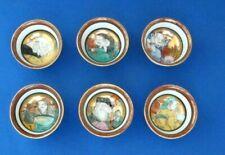 :6 Japanese Old Kutani-ware? Person pattern Sake Cups