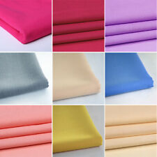 Plain Solid Cotton Blend Fabric Quilting Sewing Craft Patchwork Cloth The Yard