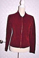 INC International Concepts BURGUNDY RED STRETCH RAYON KNIT CARDIGAN SWEATER M