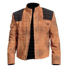 Historia de Star Wars Han Solo elegante Alden Classic Biker informal chaqueta de cuero de gamuza