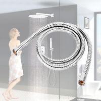 1.5M Flexible Shower Hose Stainless Steel Bathroom Heater Water Head Pipe Chrome