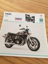 Yamaha XS 1100 1978 XS1100 1100XS Carte moto Collection Atlas Japon