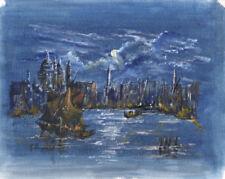 Contemporary (1980-Now) Gouache Impressionism Art Paintings