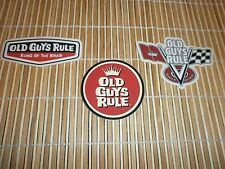 3 OLD GUYS RULE V-FLAGS  CIRCLE CROWN KING OF THE ROAD STICKER SET