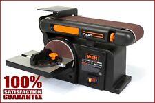 Combination Sander 6 Inch Disc Sander Bench Top 4 x 36 Inch Belt Workshop Wood