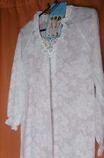 VINTAGE Schiesser Damen Nachthemd Weiß  exklusiv hochwertig RAR UNGETRAGEN