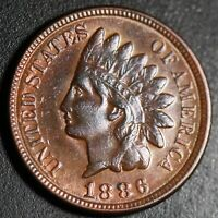 1886 INDIAN HEAD CENT - With LIBERTY & DIAMONDS - XF EF  - T2 Type 2