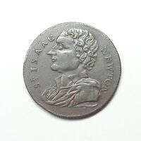 1793 Great Britain - Middlesex Isaac Newton Farthing Token, DH-1151.