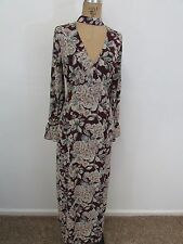 NWOT!!  BEAUTIFUL HONEY BELLE Purple Floral Print Maxi Dress-Size M
