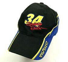 VINTAGE Disney Donald Duck Hat Cap Black Blue Strapback Embroidered Nascar Motif