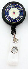 COAST GUARD Retractable ID Badge Reel/Key Ring chain/Security Card Holder USCG