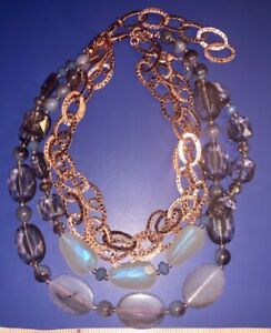 English Rose Premier Designs Necklace 4 Strand Convertible Necklace