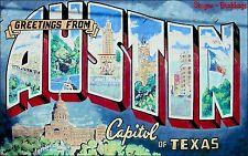 3x5 inch AUSTIN Capitol of Texas MURAL Sticker - decal lone star texan bumper TX