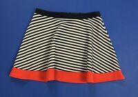 Mixeri mini gonna L TG 44 righe sexy hot minigonna vita alta skirt studs T1590