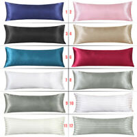 "Silky Satin Body Pillow Case Long Bedding Envelope Pillow Cover 20""x54"" 1/2pack"