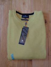 BNWT MENS M&S BLUE HARBOUR RANGE PURE LAMBSWOOL YELLOW JUMPER SIZE XXL