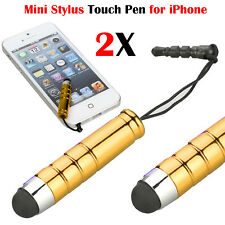 2X Golden Touch Screen Stylus Pens Capacitive  Mobile Phone All Tablet Note iPad