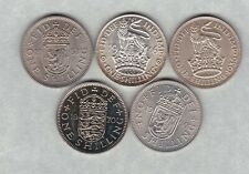 More details for 1936/1946/1953/1960 & 1970 type set of five shillings in near mint condition