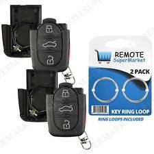 2 Shell Case For 1998 1999 2000 2001 VW Golf Keyless Entry Remote Car Key Fob