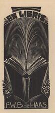 Ex Libris Dirk Govert van Luijn : Opus 25, F.W.B. de Haas