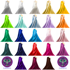 Premium Quality Polyester Satin Fabric Shiny Bridal Dressmaking Craft Material