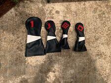 Cru Golf Leather Headcover Set