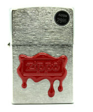 Zippo Zippo Red Wax Seal Lighter 29492 Brushed Classic Case