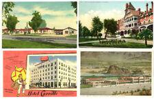California Hotels Postcards (Carrillo, Casa Del Desierto, Paso Robles, Beacon)